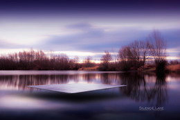 | SILENCE LAKE | / Landscape photo digitally edited and a tile installed.