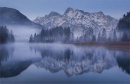 Almsee im Nebelkleid / Morgens beim almsee in Grünau Oberösterreich