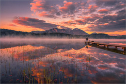 Der Fotograf / Morgens beim Turnersee in Kärnten Österreich Foto.