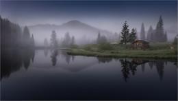 Nebel am See / Morgens beim Häuslteich in Hohentauern. Steiermark Österreich Foto