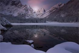 Lago Fusine / Morgens am Lago Fusine