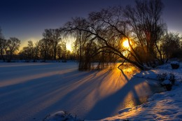 cold winter sunrise / Landschaft
