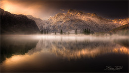 Almsee / Morgens bei Sonnenaufgang am Almsee