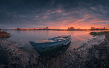 Herbst-Sonnenuntergang / ***