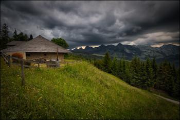 Alphütte / Bergregen